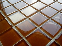 Crystal Glass mosaic Brown K04
