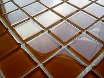 Crystal Glass mosaic Brown K04