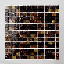 Glass Mosaic Brown+Gold  KMC06 minetta