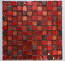 Mozaika Kamienno Szklana Czerwona AZTEC  Red A51 wzorowana na BARWOLF Aztec
