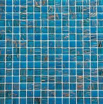 Glass Mosaic Blue+Gold KMC07  JADE