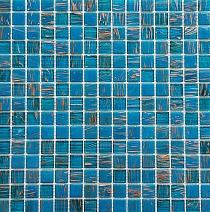 Glass Mosaic Blue+Gold KMC07