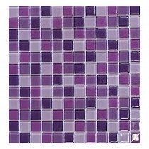 Glass Mosaic Purple mix KMC09