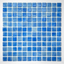 Glass mosaic anti-slip  Blue