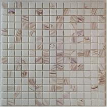Glass Mosaic White+Gold  KMC015