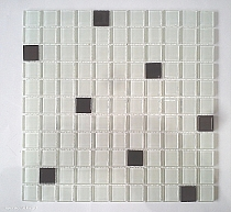 mosaic glass A125/2013 white + blak