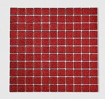 Mozaika Szklana z brokatem CZERWONA B113