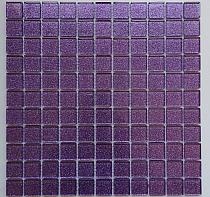 Mozaika Szklana z brokatem FIOLETOWA WRZOS B114