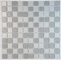 Mozaika Szklana z brokatem SREBRNA MIX BM124