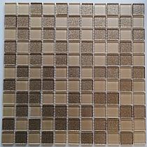 Mozaika Szklana z brokatem ZŁOTA MIX BM125
