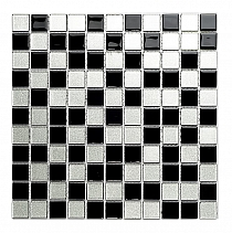 DIAMOND Glass mosaic Black A112  30 x 30