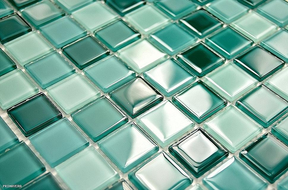 Glasmosaik Fliesen Turkis : Glasmosaik Fliesen Hochglanz TüRKIS petrol kM110 Glass Mosaic
