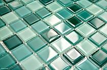 Mozaika Szklana TURKUSOWA mix KM110