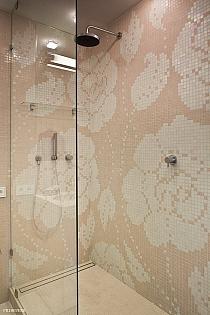 Mozaika Szklana Winter Flowers Rosa Pesca biała+ różowa Pink