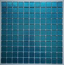 Mozaika Szklana z brokatem Turkusowa B120