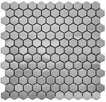 Mozaika  metalowa  HEXA INOX