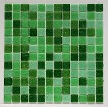 Glass mosaic Green mix DM410