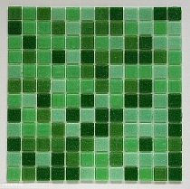 Glass mosaic Green mix DM410