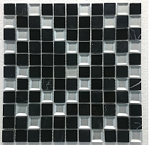 Mosaic Glass Stone MAR 03 Diamond black