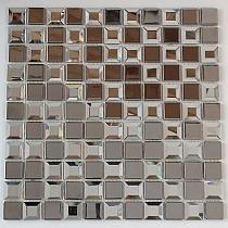 Glass mosaic silver+ diamond  KM124
