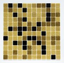 Glass mosaic Brown+Black mix BM210