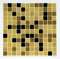 Glass mosaic Brown+Black mix BM210