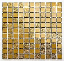 Glass mosaic GOLD A116