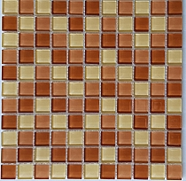 Crystal Glass mosaic Brown mix  KM101