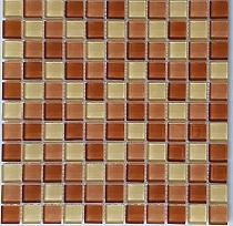 Crystal Glass mosaic Brown mix  KM101