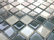 Crystal Glass mosaic Grey mix  KM104