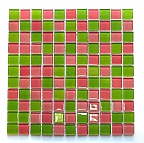 Crystal Glass mosaic Red+Green mix  KM102