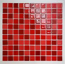 Crystal Glass mosaic Red mix  KM103