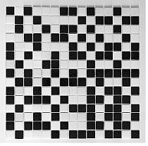 Glass mosaic White+Black AM107