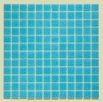 Glass mosaic Blue C304