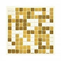 Glass mosaic Brown+White mix BM213