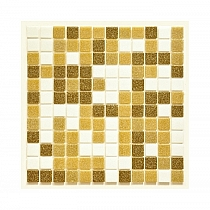 Glass mosaic Brown+White mix BM213