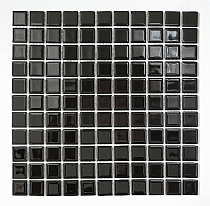 Crystal Glass mosaic Black K01