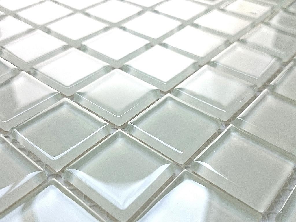 Mozaika Szklana Śnieżno Biała K05