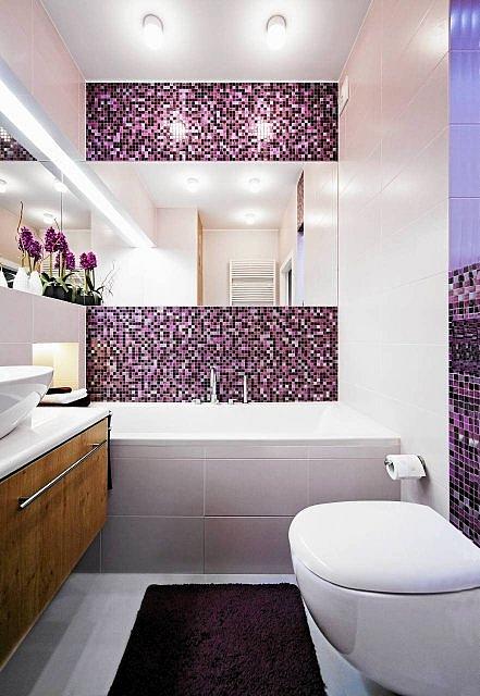 Mozaika Szklana Fioletowa Perłowa Złota Kmc04 Mozaika