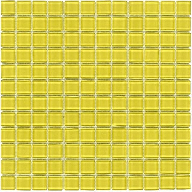 Mozaika Szklana ŻÓŁTA K08 - wysoki połysk