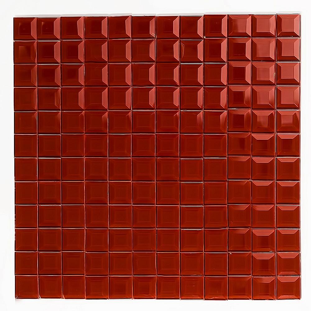 Mozaika Szklana  Diamentowa CZERWONA A126