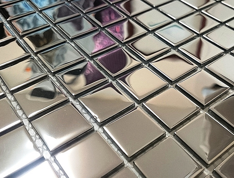 Mozaika Szklana  Srebrna A118 super połysk
