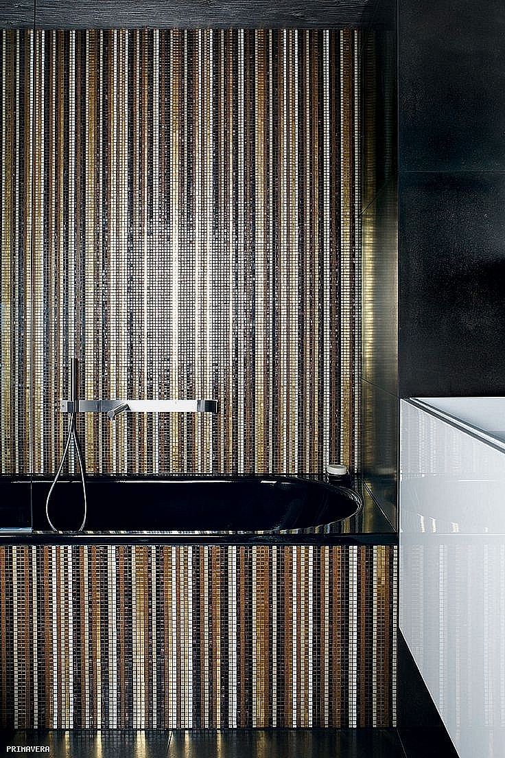 Crystal Glass mosaic Stripes