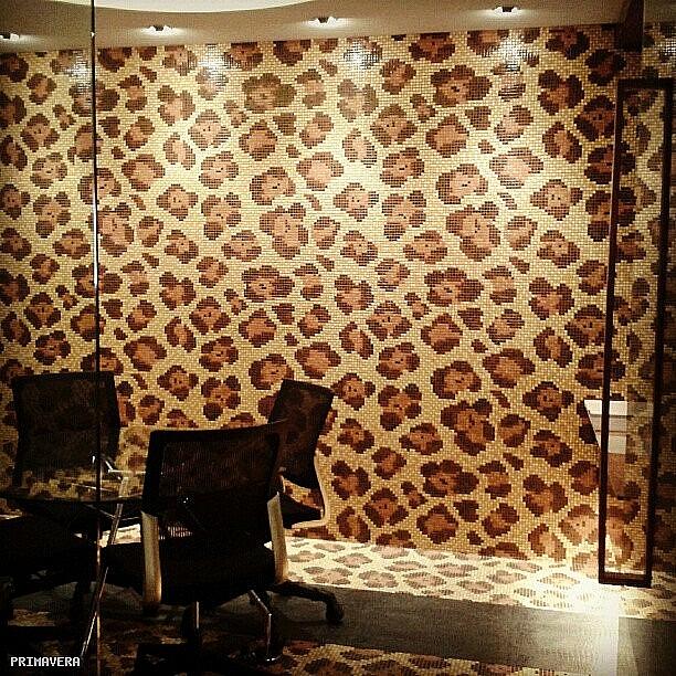 Mozaika szklana Leopard