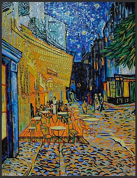 Glass mosaic Van Gogh Cafe Terrace at Night