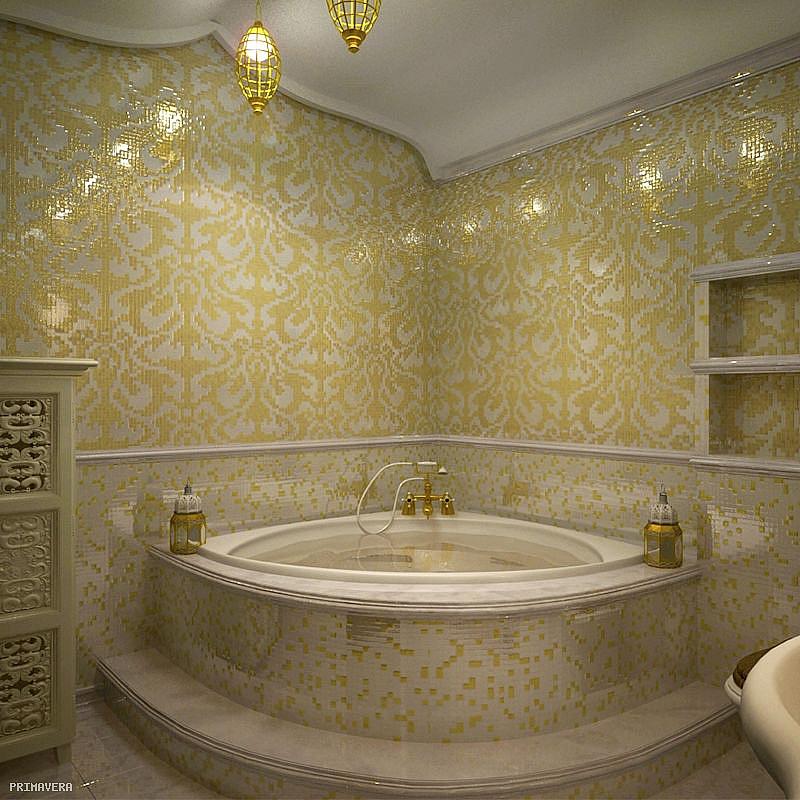 mozaika szklana damasco oro giallo gold z�ota mosaic