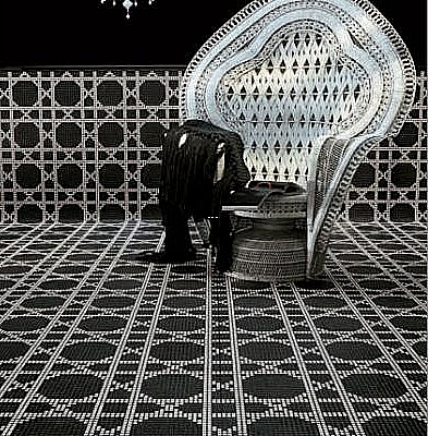 Mozaika szklana VIENA NERO - CZARNA