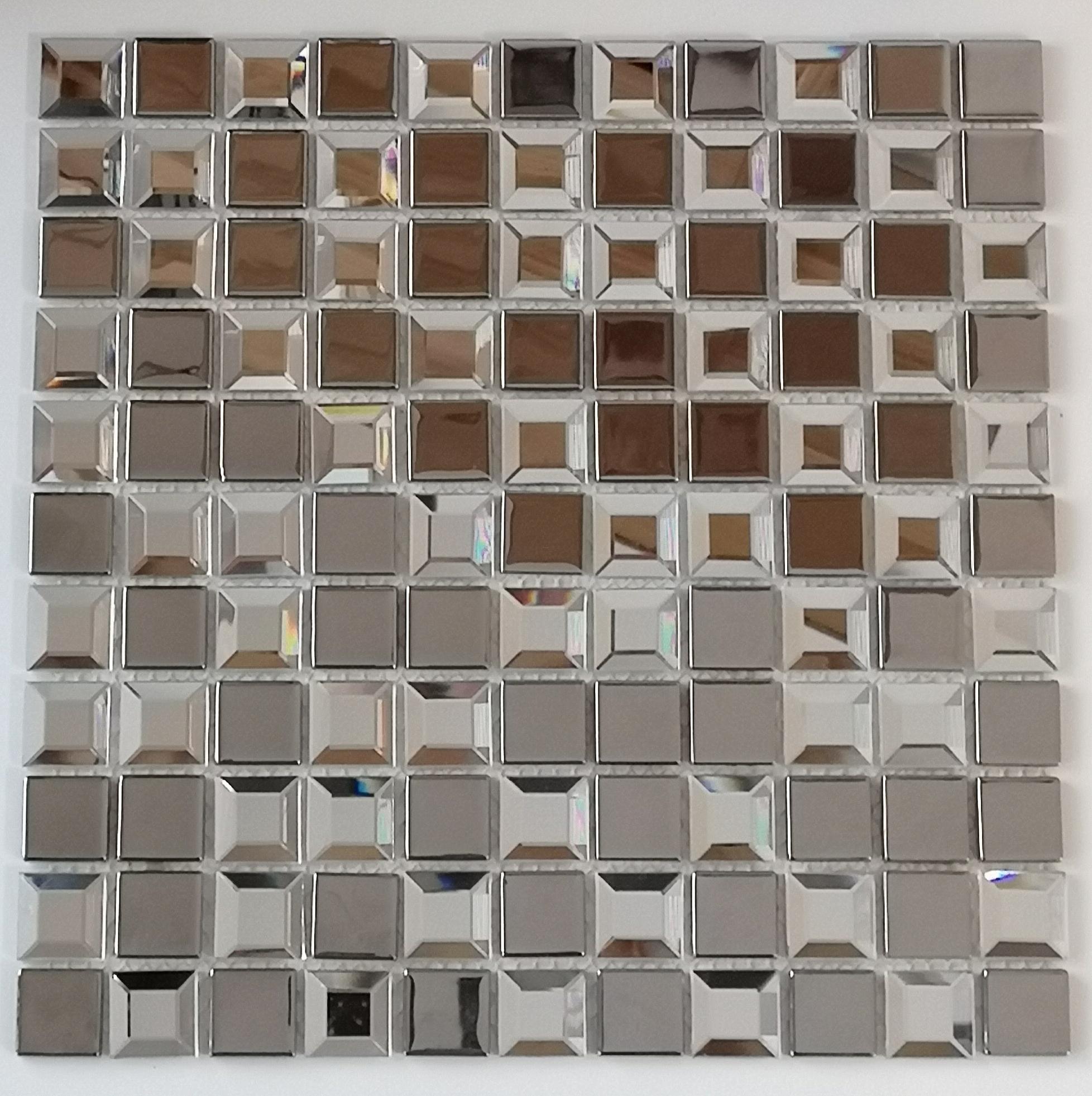 Mozaika szklana  Diamentowa+ Srebrna  KM124