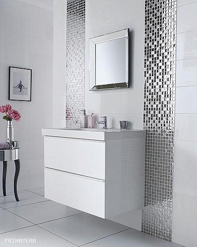 Mozaika Szklana Srebrna A115 Super Połysk Promocja
