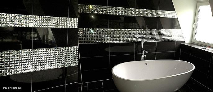 Mozaika Szklana Diamentowa Czarna A112 Mozaika Szklana